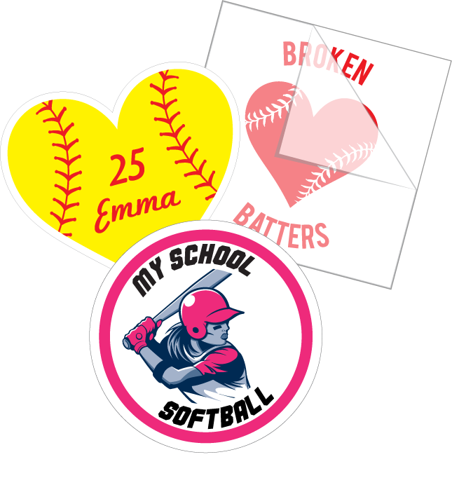 Softball Fundraiser Stickers